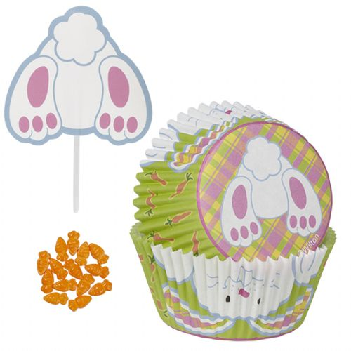 Bunny Tail Cupcake Decorating Kit - 24 pack